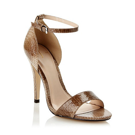 J by Jasper Conran - Designer taupe high faux snakeskin court shoes