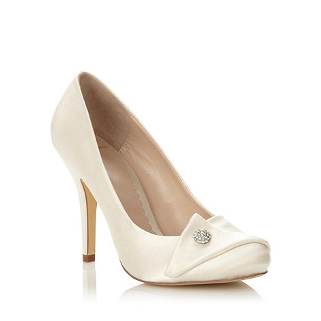 J by Jasper Conran - Designer ivory high folded satin court shoes