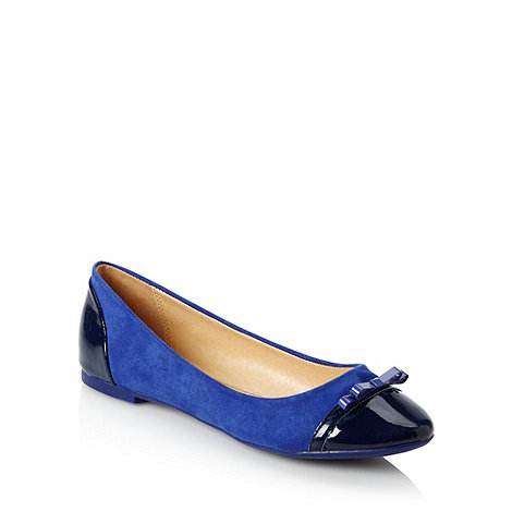 J by Jasper Conran - Designer blue ballerina pumps