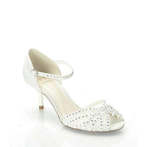 No. 1 Jenny Packham - Designer ivory diamante strap mid sandals