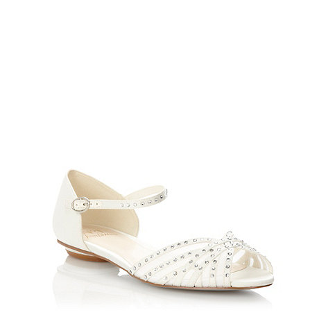 No. 1 Jenny Packham - Designer ivory diamante strap sandals