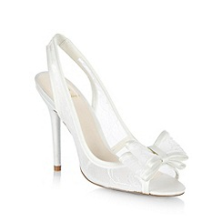 No. 1 Jenny Packham - Designer cream lace bow high court shoes
