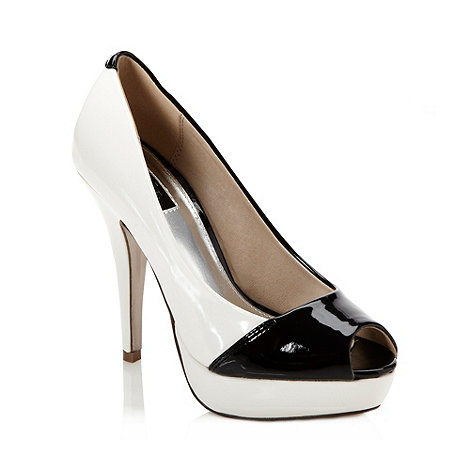 Star by Julien Macdonald - Designer black colour block high court shoes
