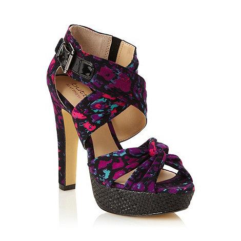 Butterfly by Matthew Williamson - Designer purple patterned high platform sandals