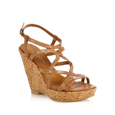 RJR.John Rocha - Designer tan high basket weave wedges
