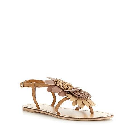 RJR.John Rocha - Designer tan flower sandals