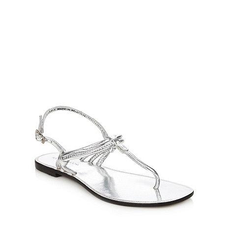 Rocha.John Rocha - Designer silver buckle strap sandals