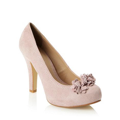 RJR.John Rocha - Designer light pink 3d corsage high court shoes