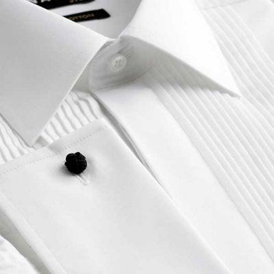 Black Tie Big and tall white regular fit long sleeve dress shirt - . -
