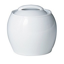 Denby - White lidded sugar bowl