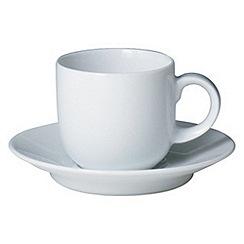 Denby - White espresso saucer