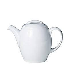 Denby - Glazed 'White' teapot