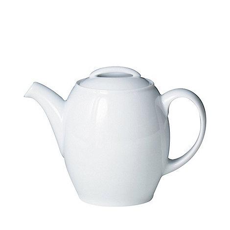 Denby - Glazed +White+ teapot