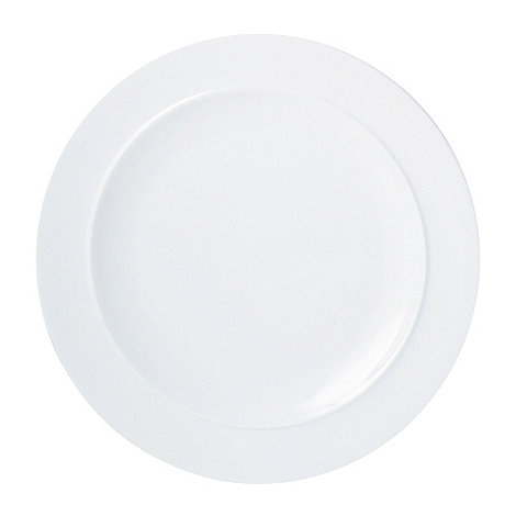 Denby - White large dinner plate