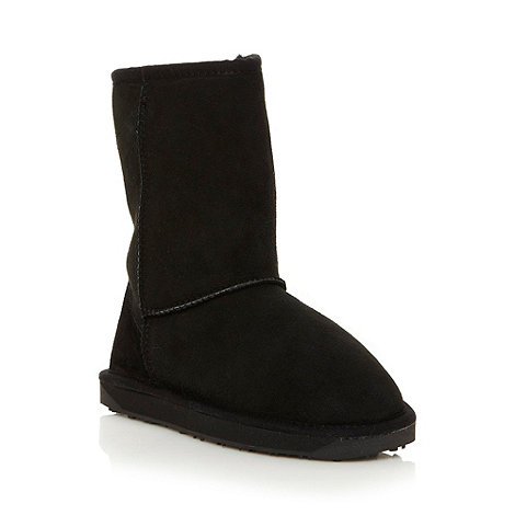 Just Sheepskin - Black suede sheepskin boots