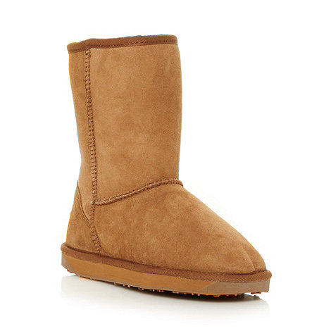 Just Sheepskin - Tan suede sheepskin boots