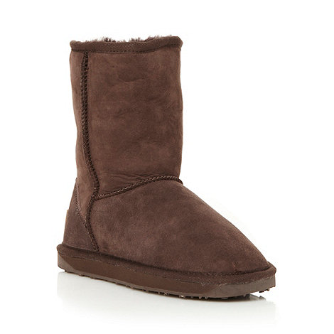 Just Sheepskin - Brown suede sheepskin boots