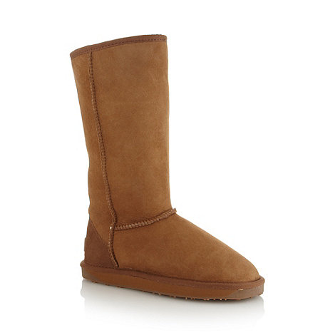 Just Sheepskin - Tan long length sheepskin boots