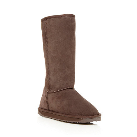 Just Sheepskin - Chocolate long length sheepskin boots