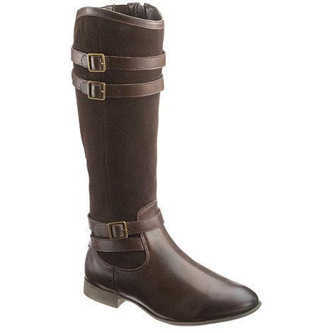 Hush Puppies - Dark brown +Farland+ high leg flat boots