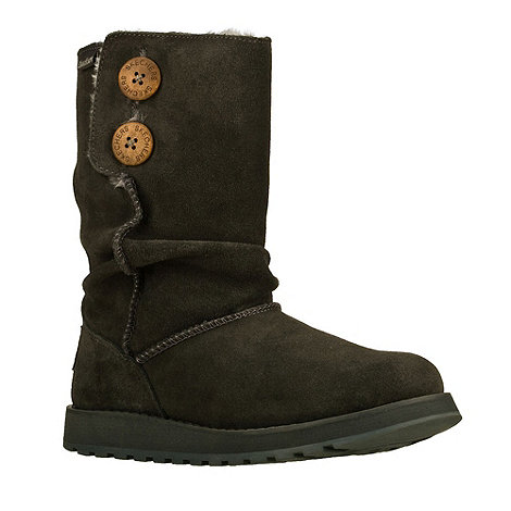 Skechers - Chocolate +Keepsakes+ suede fleece lined boots
