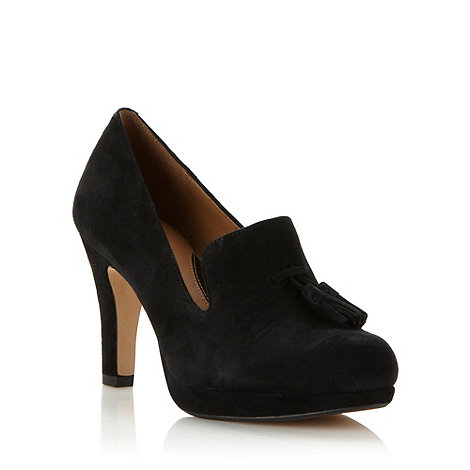 Clarks - Black suede leather high court shoe