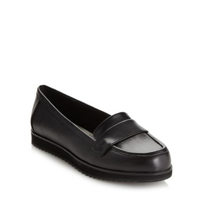 Clarks Black ´Amberley Opera´ low heel loafer shoes - . -