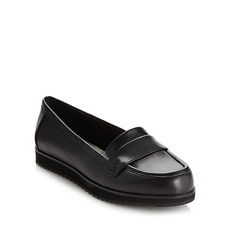 Clarks - Black +Amberley Opera+ low heel loafer shoes