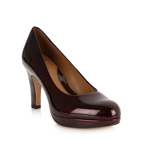 Clarks - Leather wine +Anika Kendra+ high court shoes