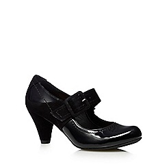 Clarks - Black 'Coolest Berry' mary jane mid heel shoes