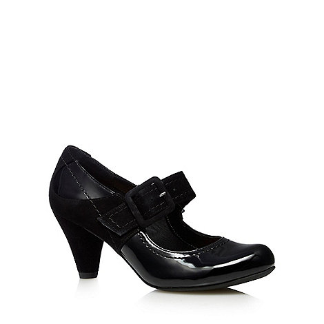 Clarks - Black +Coolest Berry+ mary jane mid heel shoes