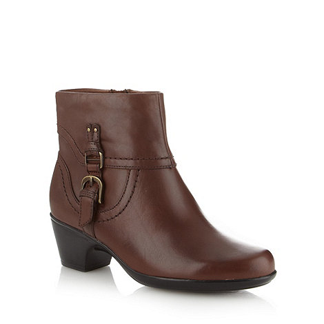 Clarks - Brown +Ingalls Tweed+ mid ankle boots