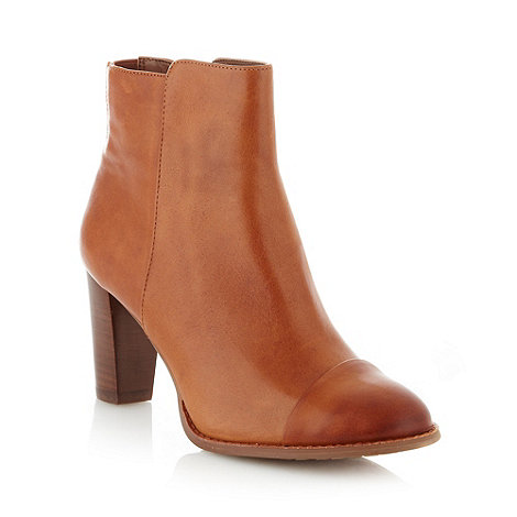 Clarks - Tan leather +Kacia Alfresco+ high ankle boots