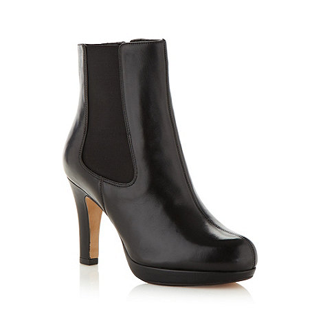 Clarks - Black 'kendra august' high ankle boots