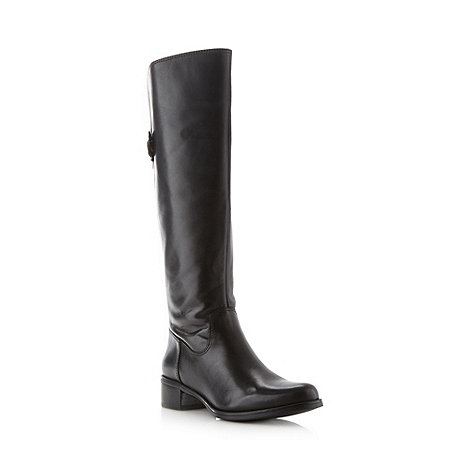 Clarks - Black leather +Kildale Drama+ low heel boots