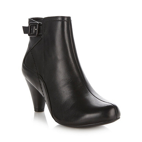 Clarks - Black leather 'Limon Coolest' mid ankle boots