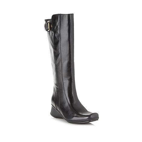 Clarks - Black +Lisbon Song+ knee high wedge heel boots