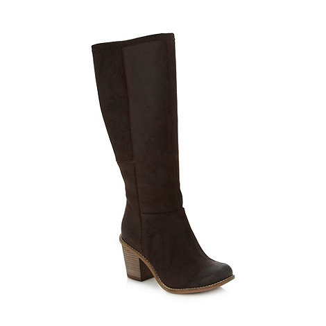 Clarks - Dark brown suede +Marble Mine+ mid heel boots