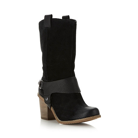 Clarks - Black +Marble Opal+ mid calf length boots