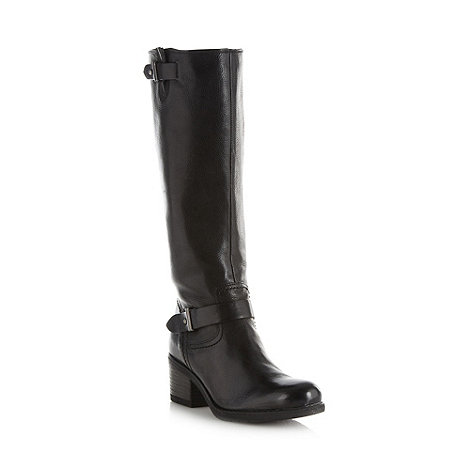 Clarks - Black leather +Mojita Crush+ high heel strap boots