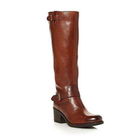 Clarks - Tan leather +Mojita Crush+ high heel strap boots