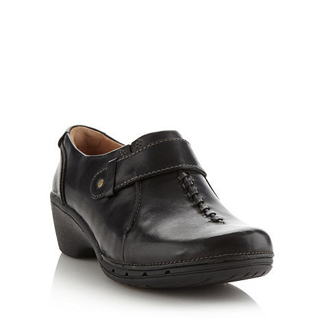 Clarks - Black +hayley+ leather shoes
