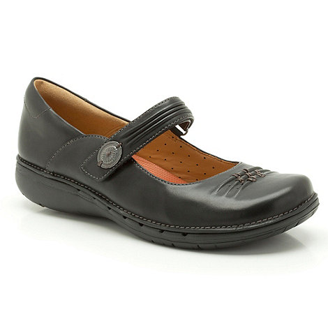 Clarks - Un linda+ black leather sandals