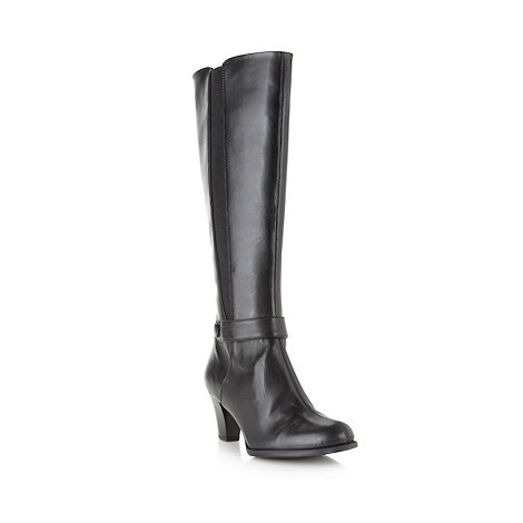 Clarks - Black +Lease Ritzy+ leather knee high boots