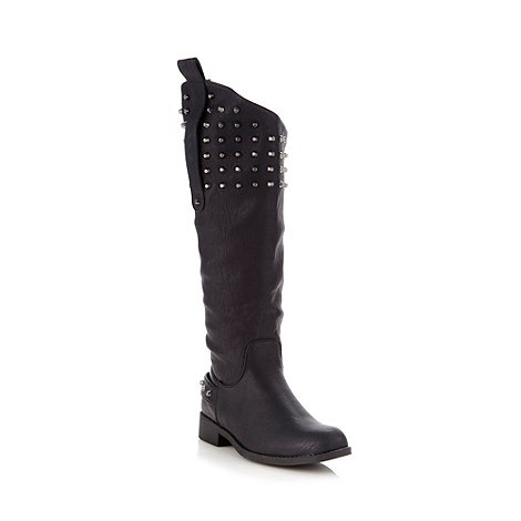 Call It Spring - Black studded knee length boots