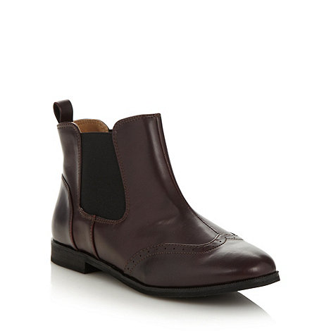 Call It Spring - Wine +darga+ chelsea boots