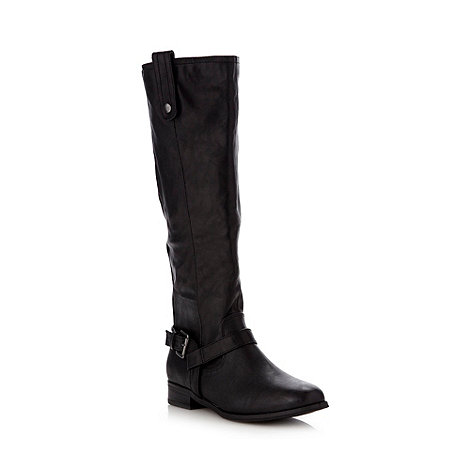 Call It Spring - Black faux leather riding boots