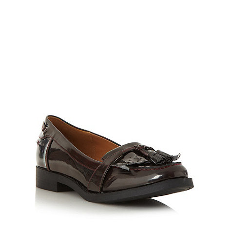 Call It Spring - Wine +flohema+ patent tassel trim loafers