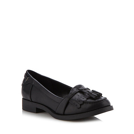 Call It Spring - Black +flohema+ tassel trim loafers