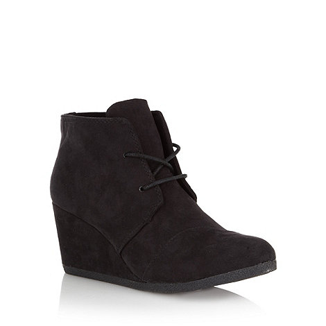 Call It Spring - Black +hecko+ mid wedge boots